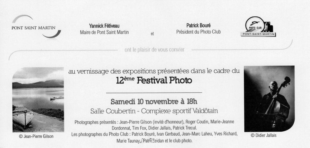 Roger Coutin au Festival de Pont Saint Martin